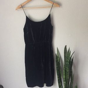 J. Crew Velvet Silk Blend Navy Sleeveless Dress